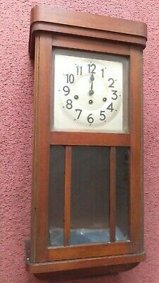 Antique Wood wall clock, British rail