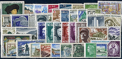 Timbre/Stamp - France -  40 Timbres Neufs **/*  - 1969 - TTB - Cote:  29 €