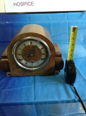 British Anvil  Art Deco style chiming mantle clock in working order