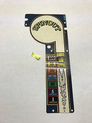 Taxi Williams Plastic Playfield Pinball Parts Part USED #1 553-16-SP