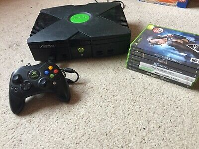 Original Xbox Console With Controller & 6 Game and all cables