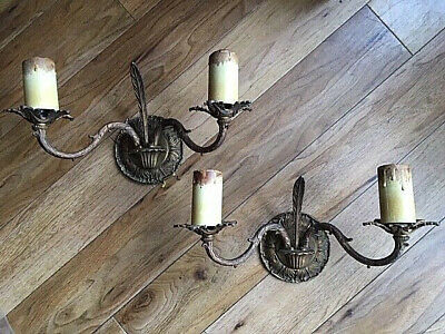 Stunning French Cast Brass Rococo Wall lights - 2 Pairs Available