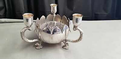 A Vintage Silver Plated table Centre Piece/candle Holder.very ornate.