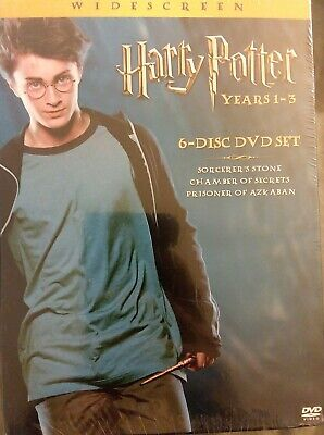 HARRY POTTER YEARS 1 2 & 3 DVD Box Set 6-DISC widescreen SEALED free shipping