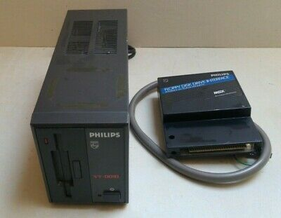 Philips Vy-0010 Msx External Floppy Disk Drive With Interface