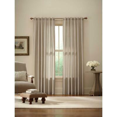 Exceptional Home Decorators Collection Curtains U0026 Drapes Ivory Faux Silk Lined Back Tab  ...