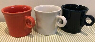FIESTAWARE Fiesta Lot of 3 Coffee Mugs Cups Mixed Color Set Tom & Jerry C Ring