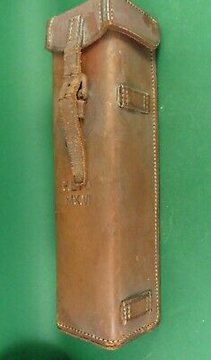 Antique clinometer in leather case Charles Frank Glasgow