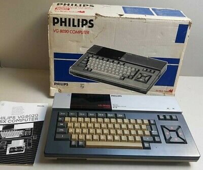 Philips Msx 8020 Working In Box Retro Vintage Game Computer Boxed