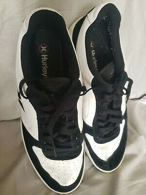 1329a2bb90f Htf Hurley Intl Under Armour 030507XC Leather   Suede shoes black white ...