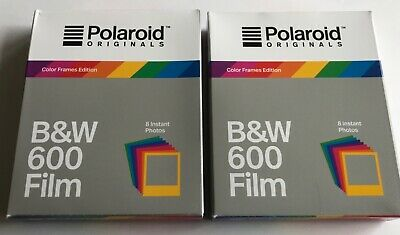 Polaroid Originals B&W Film for 600 - Hard Color Frames - Two Packages