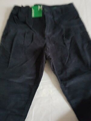 Benetton girls velvet look trousers. Age 7-8 years. New with tags.