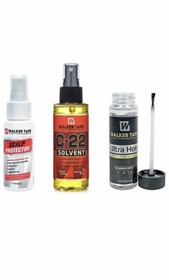 Walker-Tape Ultra Hold 1.40z Adhesive/ Glue +C22 4oz+scalp Protector (set)