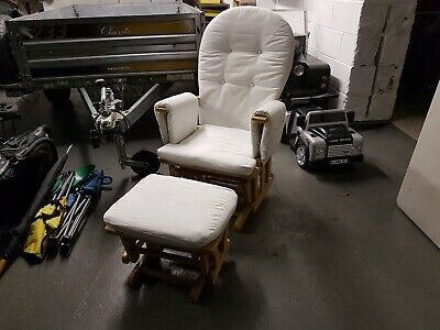 White/Cream Nursing Chair and footrest