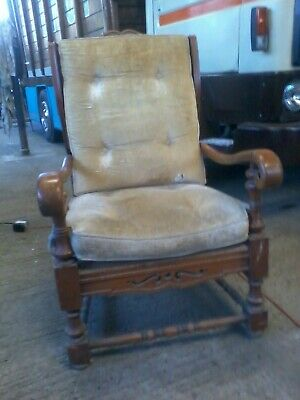 Heavy Vintage Wooden Chair