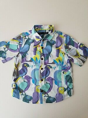 Baby Boys Parrot Print Summer Shirt From Next Age 1.5-2