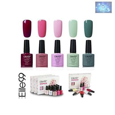 Elite99 Esmalte_De Uñas_Semipermanente Uñas_De Gel_Uv Led_Kit De_Manicura 5Pcs