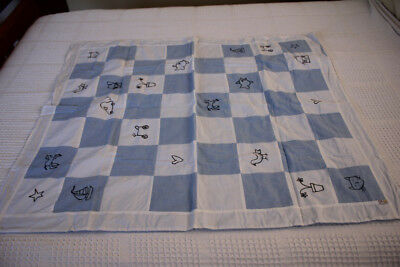 Living Textiles blue Doona cover for cots
