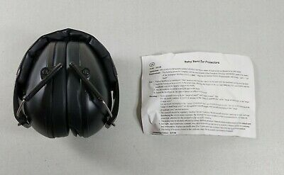 Baby Banz Earmuffs Kids Hearing Protection. Ages 2+ Years. Black