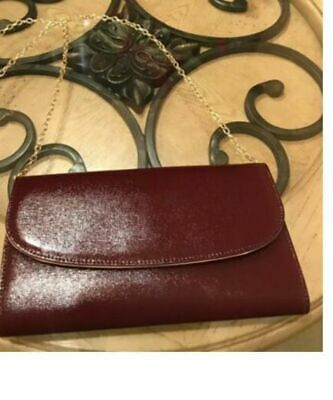 380ca05cc Auth Nordstrom Brand Burgundy Red Leather Pouch Clutch Bag Wallet Crossbody  NEW