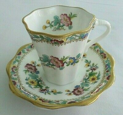 Coalport Bone China Demitasse Cup & Saucer, Rose / Flower,  Made in England