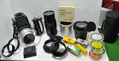 Vintage Camera - Kowa Six MM 6x6cm with 3 lenses and other accessories