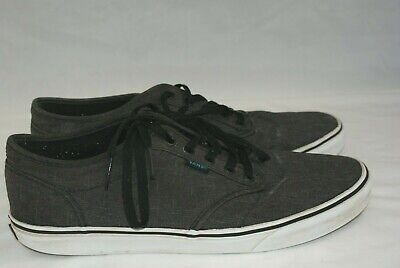 01014a89e5 Vans Atwood Men s Size 12 Low Top Gray Canvas Skate Shoes Casual Comfort