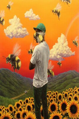New Tyler the Creator Flower Boy Rap Music Album Cover Fabric Poster X-135-24x36
