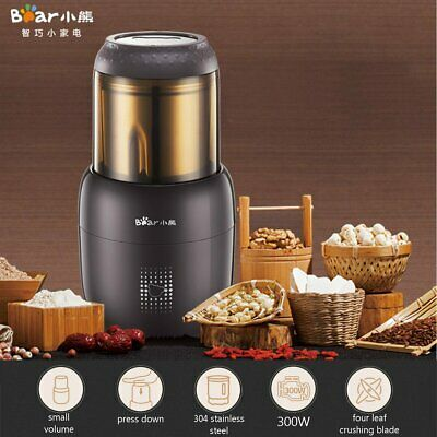 300W Electric Grain Grinder Coffee Bean Nut Kitchen Mill Powder Grinding Machine