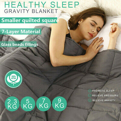 2.3/ 5/ 7/ 9KG Cotton Bedding Weighted Blanket Deep Relax Sleeping Heavy Gravity