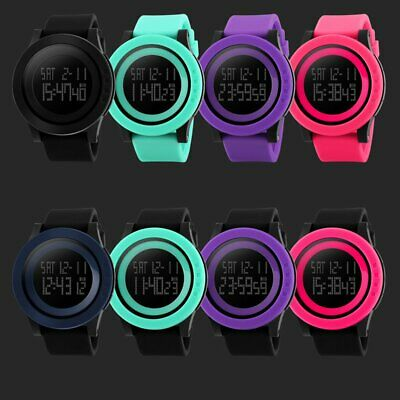 SKMEI 1142 Waterproof Men Military Sports Watch Silicone LED Digital Watch PF