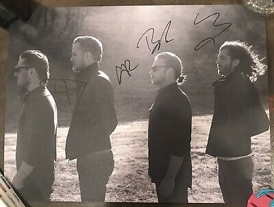 Imagine Dragons Signed Lithograph 24x18 signed by all 4 members Rare Authentic