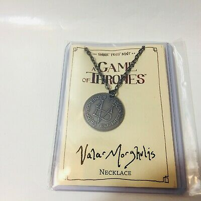 """HBO Game of Thrones VALAR MORGHULIS Steel Coin Necklace w/ 30"""" Chain IN STOCK"""