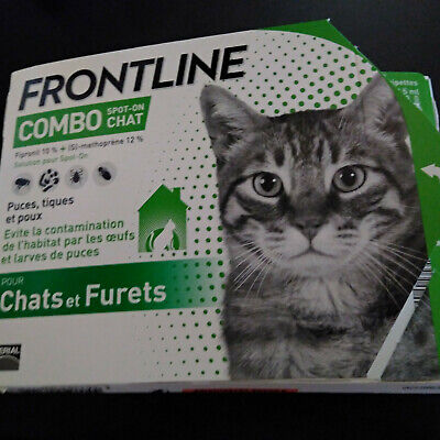 Antipuces antitiques FRONTLINE combo chat 4 pipettes