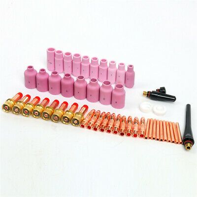 51PCS Fit WP 17 18 26 TIG Welding TorchTIG Gas Lens Collet Body Consumables Kit