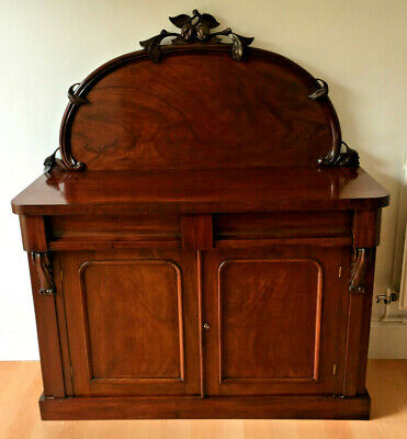 Antique Victorian Chiffonier Sideboard Cabinet