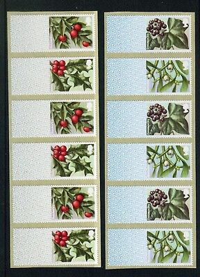 2017 Winter Greenery 1st & 2nd Blank strips of 6 labels 1st: R17YAL, 2nd:CL17S