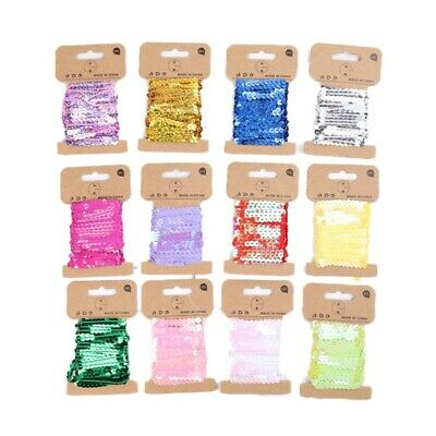 5Yards Lace Fabric Crafts Sequins Elastic Ribbons DIY Sewing Wedding Party Decor