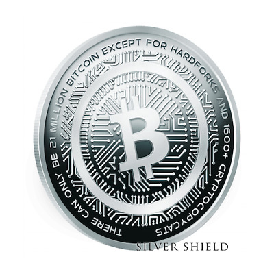 2018 1 oz Proof Crypto 2 - BitCOiN-Cash  RARE - low COA 129 - SILVER SHIELD SSG