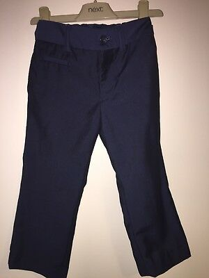Boys Age 4 Years - Next Navy Smart Trousers