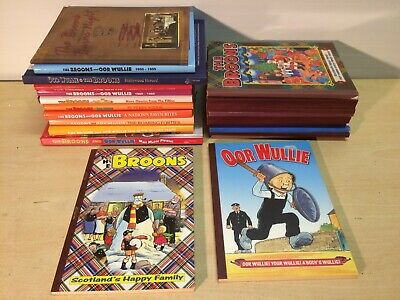 Job lot  of  23  The Broons & Oor Wullie Annuals