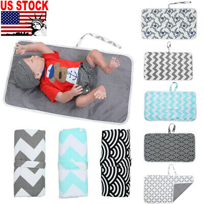 NEW Infant Baby Portable Foldable Washable Travel Nappy Diaper Play Changing Mat