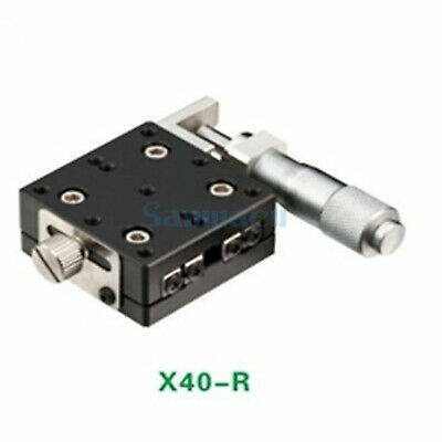X Axis 40X40mm Platform Precision Bearing Linear Stage Right Micrometer