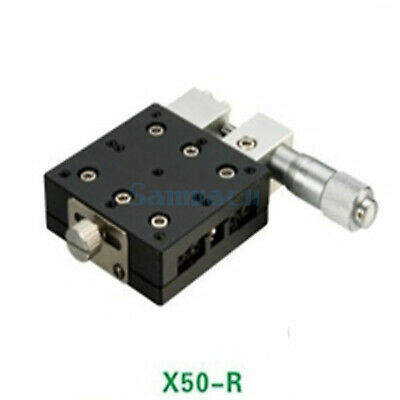 X Axis 50X50mm Platform Precision Bearing Linear Stage Right Micrometer