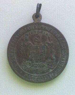 Australia 1937 Coronation Medal. King George VI Queen Elizabeth