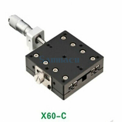 X Axis 60X60mm Platform Precision Bearing Linear Stage Central Micrometer