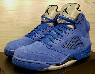 "088a6c7cbb8 Nike Air Jordan 5 Retro Game Royal Black ""Blue Suede"" 136027-401 Pick"
