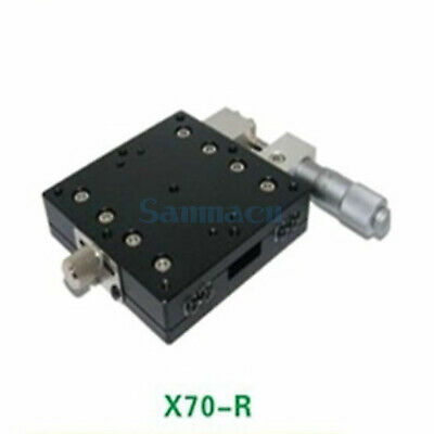 X Axis 70X70mm Platform Precision Bearing Linear Stage Right Micrometer