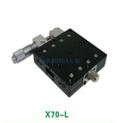 X Axis 70X70mm Platform Precision Bearing Linear Stage Left Micrometer