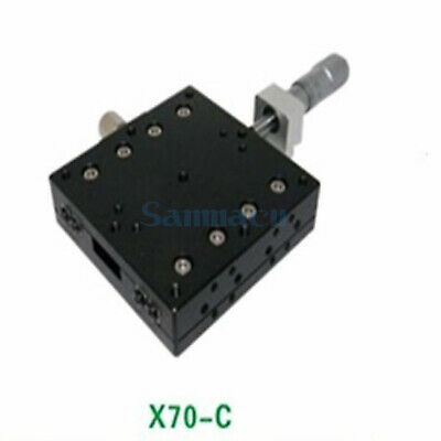 X Axis 70X70mm Platform Precision Bearing Linear Stage Central Micrometer